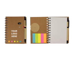 Notebook with Ballpen and Memopad